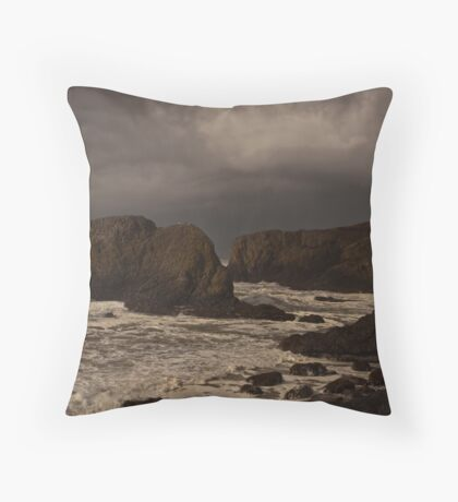 Pacific Storm ~ Heading Inland Throw Pillow