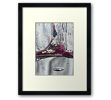 Water drops abstract 2 Framed Print