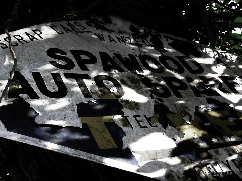 Rusty Sign - Spawood Auto Spares by emilygoodwin