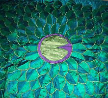 My Lily Pad Bed Throw Quilt! by Donna Huntriss