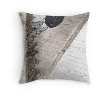 Banksy in Chicago Throw Pillow