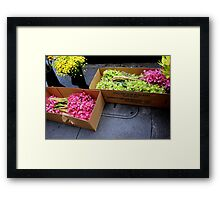 At The Florist's Before Opening Framed Print