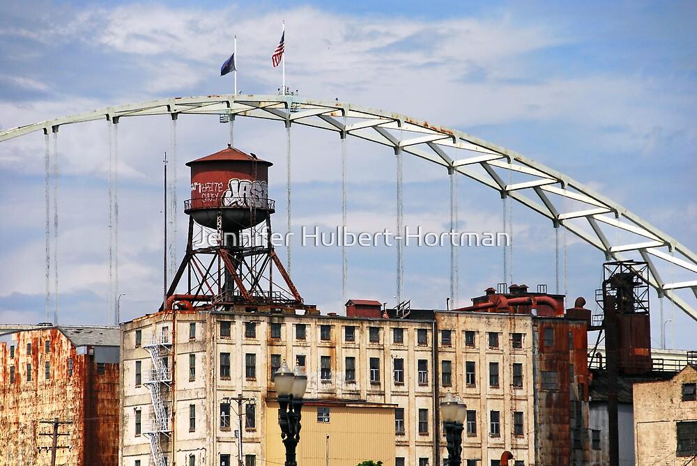 The Fremont Bridge by Jennifer Hulbert-Hortman