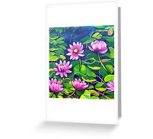 Waterlillies in Japanese Gardens Greeting Card