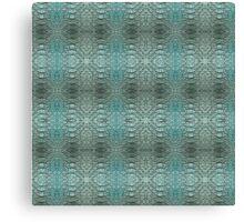 blue skin digital pattern Canvas Print
