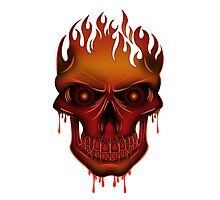 Flame Skull Photographic Print