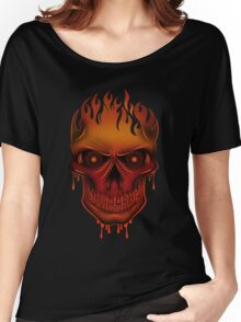 Flame Skull Women's Relaxed Fit T-Shirt
