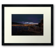A Dash of Purple Framed Print