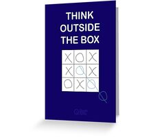 Think Outside the Box Greeting Card