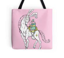 Old wizzard. Magic horse rider Tote Bag