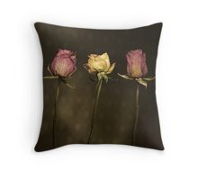 3 Roses Throw Pillow