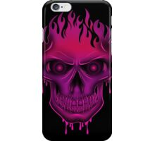 Flame Skull - Hot Pink (2) iPhone Case/Skin