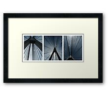 The Anzac Bridge - triptych Framed Print