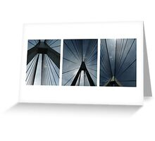 The Anzac Bridge - triptych Greeting Card