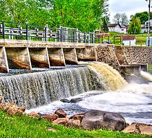 Dam on Crawfish River by ECH52