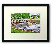 Dam on Crawfish River Framed Print