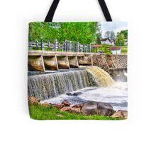 Dam on Crawfish River Tote Bag