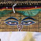 buddha eyes. swayambhunath, nepal by tim buckley | bodhiimages