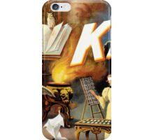 Harry Kellar Magician Vintage Poster Restored iPhone Case/Skin