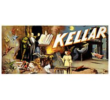 Harry Kellar Magician Vintage Poster Restored Photographic Print