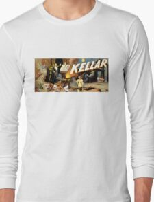 Harry Kellar Magician Vintage Poster Restored Long Sleeve T-Shirt