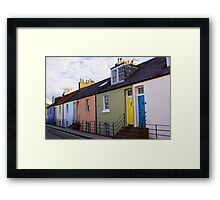 Colourful Cottages Framed Print