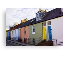 Colourful Cottages Canvas Print