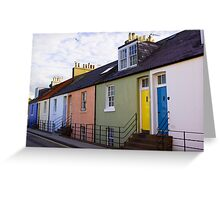 Colourful Cottages Greeting Card