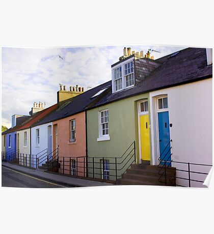 Colourful Cottages Poster