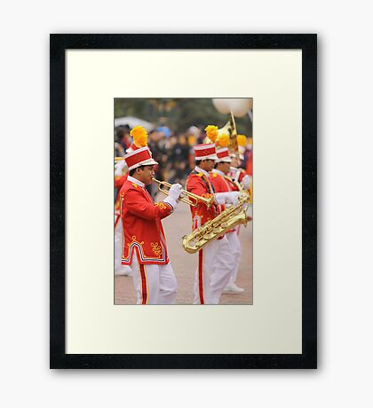 The Saints Go Marching Framed Print