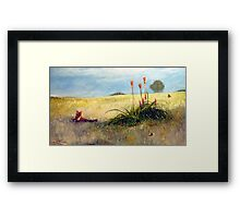 Fox and the Red Hot Pokers Framed Print