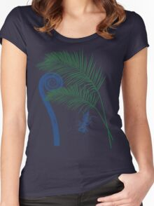 Fern, Palm, and Whip scorpion Women's Fitted Scoop T-Shirt