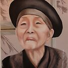 Old woman in Saigon by Colombe  Cambourne