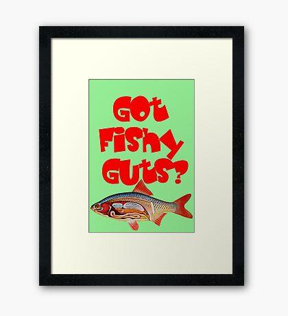 Red Got fishy guts Framed Print