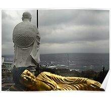 Golden Buddha and Muroto Cape Poster