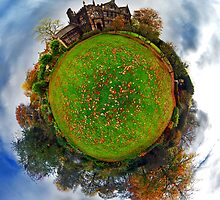 Autumn at East Riddlesden Hall - Planet by Lucy Martin