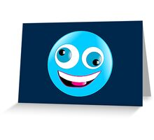 Crazy Smiley Greeting Card