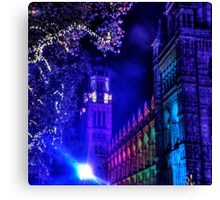 Natural History Museum, London, By Night Canvas Print