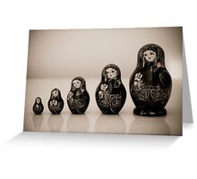 Matryoshka Dolls Greeting Card