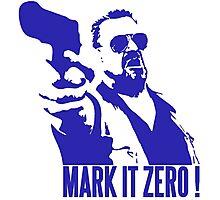 Mark it Zero Blue Photographic Print