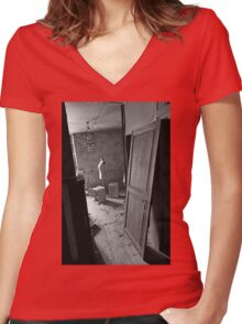 A closed past the remains of a memory of a happy time ! Seamstress ... 2 black & white(t) by Olao-Olavia / Okaio Créations  by fz 1000  2015 Women's Fitted V-Neck T-Shirt