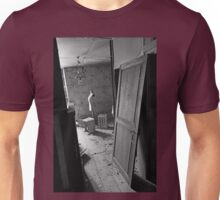A closed past the remains of a memory of a happy time ! Seamstress ... 2 black & white(t) by Olao-Olavia / Okaio Créations  by fz 1000  2015 Unisex T-Shirt