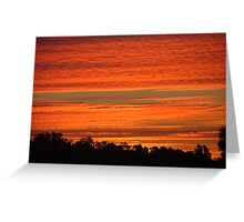 Summer Sunset over the Riverina Greeting Card