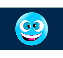 Cross-Eyed Smiley Photographic Print