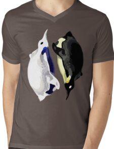 Yin Yang Penguins  Mens V-Neck T-Shirt