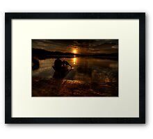 Shadows Of Twilight - Narrabeen Lakes, Sydney - The HDR Experience Framed Print