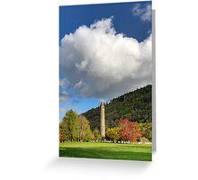 Glendalough Round Tower Greeting Card