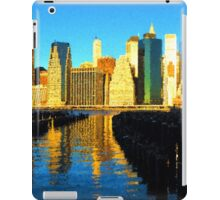Bright and Sunny New York City Skyline - Impressions Of Manhattan iPad Case/Skin