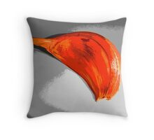 Garlic Colorized Throw Pillow