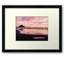 A Summer Evening At The Ocean Framed Print